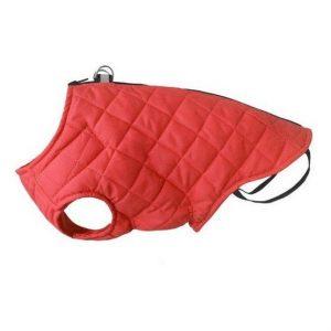 CHABA kurtka pikowana z odblaskiem w kolorze czerwonym