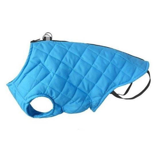 CHABA kurtka pikowana z odblaskiem w kolorze niebieskim